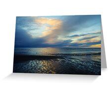 Blue Sunset Greeting Card