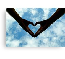 Hands full of heart Canvas Print