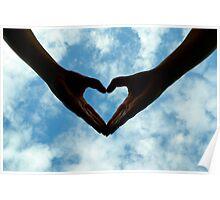 Hands full of heart Poster