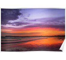 Ocean Grove at Dusk Poster