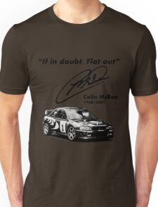 If in doubt, Flat out (with subaru) Unisex T-Shirt