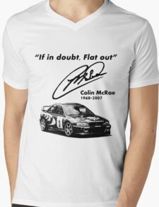 If in doubt, Flat out (with subaru) Mens V-Neck T-Shirt