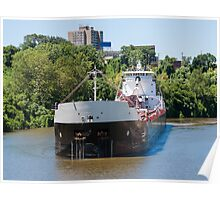 Freighter On The Cuyahoga Poster
