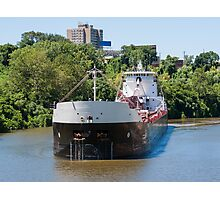 Freighter On The Cuyahoga Photographic Print