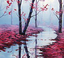 Pink toned Landscape by Graham Gercken