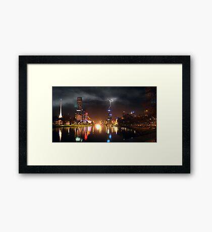 Melbourne Storm Front Framed Print