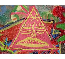 Triangle Man Photographic Print