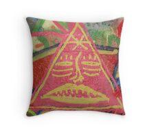 Triangle Man Throw Pillow