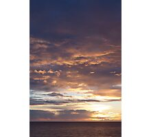 north sea sunrise Photographic Print