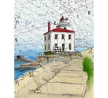 Fairport Harbor Lighthouse OH Chart Cathy Peek Photographic Print