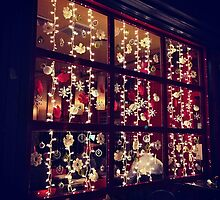 Christmas Window - Rocking Horse Cafe, New York City by SylviaS
