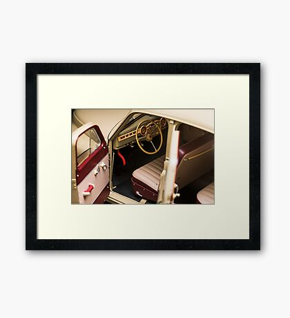 Interior retro car Framed Print