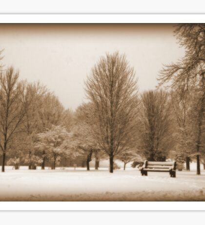 A Winter's Scene Sticker