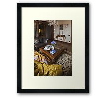 coffee table in the interior Framed Print