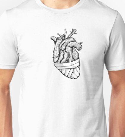 Blindfolded Heart B/W Unisex T-Shirt