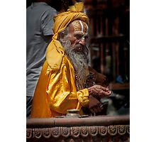 Durbar Square Holy Man Photographic Print