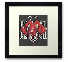 BLACK LODGE DANCE HALL Framed Print