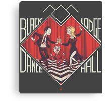 BLACK LODGE DANCE HALL Canvas Print