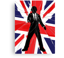 Made In Britain: James Bond, 007 Canvas Print