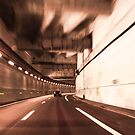 car in a tunnel with movement effect  by hpostant
