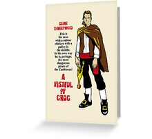A Fistful of Grog Greeting Card