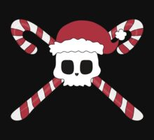 Christmas Pirate Skull & Candy Canes by anertek