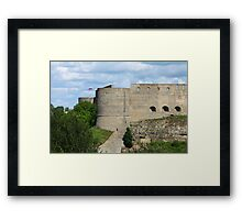 loopholes on fortress wall Framed Print