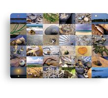 Beach Collage Canvas Print