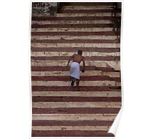 Stairs of the Ganges Poster
