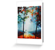 Wet Fall Day Greeting Card