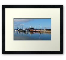 Port Albert Harbour, Clear Blue Aussie Skies - Victoria Framed Print