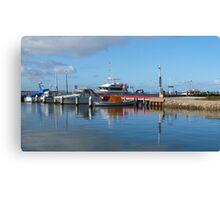 Port Albert Harbour, Clear Blue Aussie Skies - Victoria Canvas Print