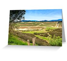 Temecula Wine Country Greeting Card