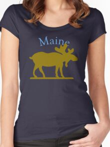 Maine Moose Women's Fitted Scoop T-Shirt
