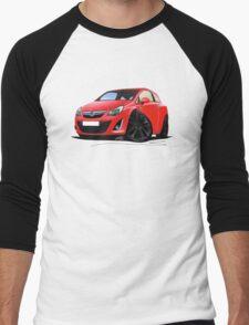 Vauxhall Corsa D (Facelift) Red (Black Wheels) Men's Baseball ¾ T-Shirt