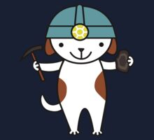 Cute Geologist Puppy Dog One Piece - Short Sleeve