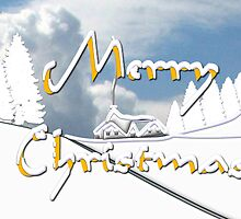 Merry Christmas from a Snowy Countryside by Dennis Melling