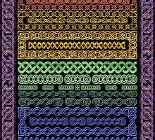 Crystal Celtic Knot Borders - Medium - Decoupage by MaryJaneBayliss
