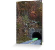 bicycling through tunnel 4 Greeting Card