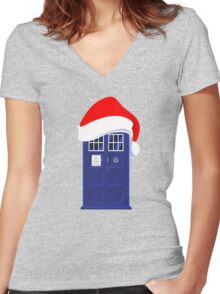 Santa Who Women's Fitted V-Neck T-Shirt