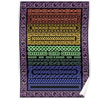 Crystal Celtic Knot Borders - Small - Decoupage Paper Poster