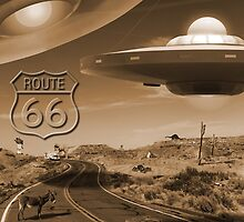 YOU NEVER KNOW WHAT YOU'LL SEE ON ROUTE 66. by Mike  McGlothlen