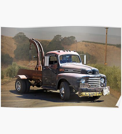 Aging Ford Tow Truck Poster