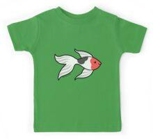 Pet Fish - Red white and Black Goldfish Kids Tee