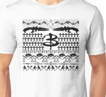 Buffy Ugly Holiday Sweater Pattern Unisex T-Shirt