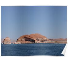 Elephant trunk rock formation on Lake Powell Poster