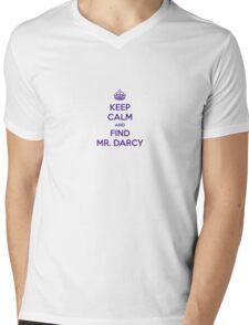 Keep Calm and Find Mr. Darcy Jane Austen Mens V-Neck T-Shirt
