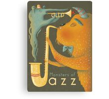 Monsters of Jazz Canvas Print