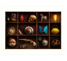 Steampunk - A box of curiosities Art Print