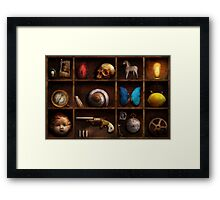 Steampunk - A box of curiosities Framed Print